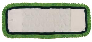 "Mop Pad, Ultra Looped-End Microfiber, Pocket Style, Green, 5"" x 18"","
