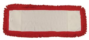 "Mop Pad, Ultra Looped-End Microfiber, Pocket Style, Red, 5"" x 18"","