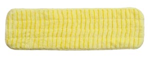 "Mop Pad, Ultra Aggressor Yellow Microfiber, 5"" x 18"","