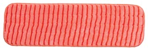 "Mop Pad, Ultra Aggressor Red Microfiber, 5"" x 18"","