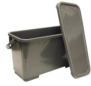 Charging Bucket With Leak Proof Lid, 16 Quart, Gray,