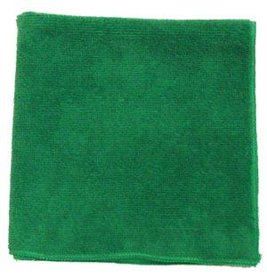 "Microfiber Towel, Green, 230 GSM, 12"" x 12"""