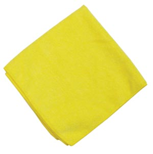 "Microfiber Towel, Yellow, 230 GSM, 12"" x 12"","