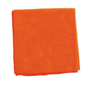 "Microfiber Towel, Orange, 300 GSM, 16"" x 16"","