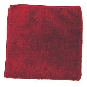 "Microfiber Towel, Burgundy, 300 GSM, 16"" x 16"","