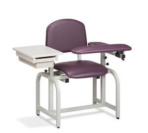 Blood Draw Chair, Flip-Arm & Drawer, Upholstered