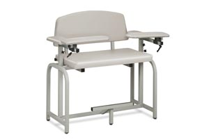 Extra Tall & Extra Wide Blood Draw Chair, 2 Flip-Arms, Upholstered, 400 lbs Capacity
