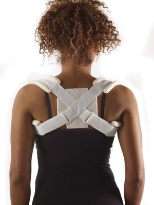 "Clavicle Strap, X-Small, 17""-24"" Cloth, Foam, Laminate, Latex Free, Non-Sterile, 1/bg"