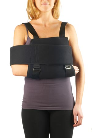 "Sling and Swathe, Universal, up to 53"" Chest Circumference, Cloth, Foam, Laminate, Late Free, Non-Sterile, 1/bg"