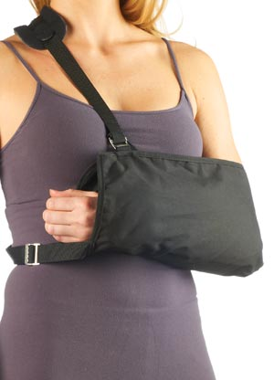 "Shoulder Immobilizer, Medium, 17""x17"",  Cotton, Latex Free, Non-Sterile, 1/bg"