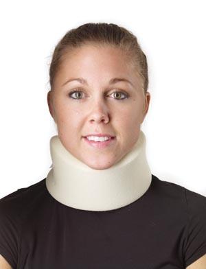 """Cervical Collar, 2 1/2"""", Universal, 16""""-24"""" Circumference, Cotton, Foam, Latex Free, Non-Sterile, 1/bg"""