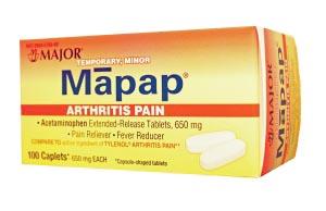 Major Analgesic Caplets Each 100381 By Major Pharmaceuticals