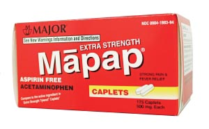 Major Analgesic Caplets Each 100445 By Major Pharmaceuticals