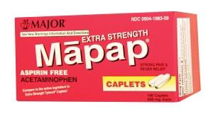 Major Analgesic Caplets Each 100448 By Major Pharmaceuticals