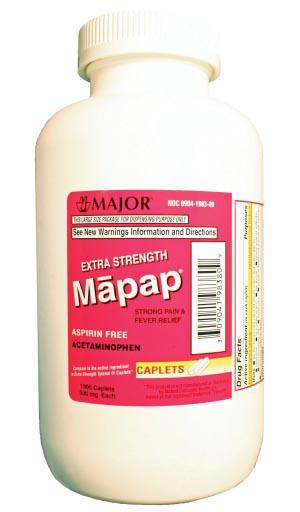 Major Analgesic Caplets Each 100449 By Major Pharmaceuticals