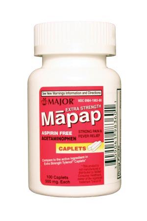 Major Analgesic Caplets Each 100486 By Major Pharmaceuticals