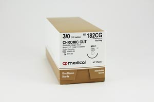 CP Medical Chromic Gut Natural Absorbable Suture Box 182Cg By CP Medical