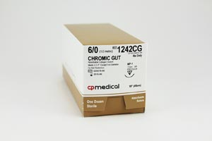 CP Medical Chromic Gut Natural Absorbable Suture Box 1242Cg By CP Medical