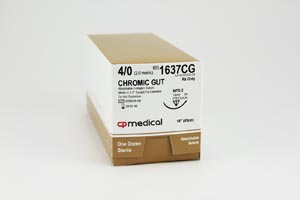 CP Medical Chromic Gut Natural Absorbable Suture Box 1637Cg By CP Medical