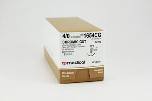 CP Medical Chromic Gut Natural Absorbable Suture Box 1654Cg By CP Medical