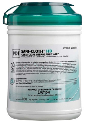 NAFS-SANI CLOTH HB GERM WIPELG 160/TUB 12TUB/CS