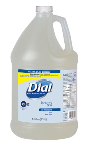DIAL SENSITIVE SKIN ANTIMICROBIAL LIQUID HAND SOAP: preorder DIL 2340082838 cs                                      $60.17 Stocked