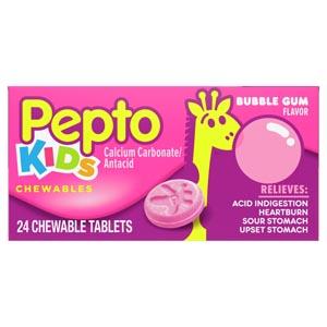 CHEWTAB PEPTO CHILD BUBBLEGUM24/PK 24PK/CS